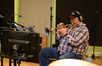 Trumpet player Arturo Sandoval performs on <i>Ride Along 2</i> at Sonic Fuel Studios