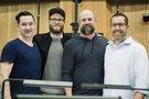 Co-director Greg Tiernan, producer/writer Seth Rogen, co-director Conrad Vernon and composer Christopher Lennertz