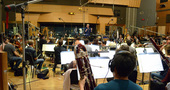Conductor Mark Graham conducts the Hollywood Studio Symphony