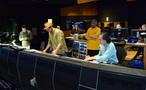 Director Justin Lin, composer Michael Giacchino, music contractor Reggie Wilson, and scoring mixer Joel Iwataki