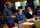 Orchestrator Jeff Kryka, music editor Steve Davis, and ProTools recordist Vinni Cirilli