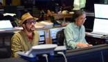 Composer Michael Giacchino and scoring mixer Joel Iwataki
