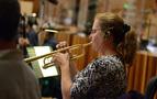 Trumpet player Marissa Benedict