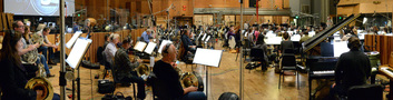 The view of the <i>Star Trek Beyond</i> sessions from the French horn section