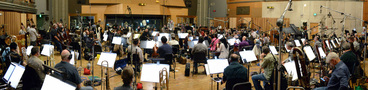 A 98-piece orchestra records the score to composer Michael Giacchino's score for <i>Star Trek Beyond</i> with conductor/orchestrator Tim Simonec