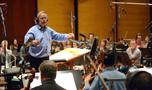 Conductor/orchestrator Nicholas Dodd records with the cello section