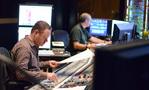 Scoring mixer Casey Stone checks levels