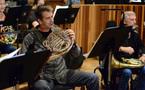 French hornist Steve Becknell rehearses