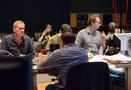 Composer John Ottman talks with scoring mixer Casey Stone