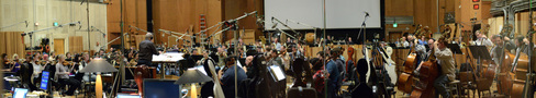 The orchestra records a cue from <i>X-Men: Apocalypse</i> with conductor Jeffrey Schindler