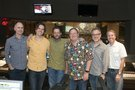 Music supervisor Tom MacDougall, director Byron Howard, composer Michael Giacchino, executive producer John Lasseter, director Rich Moore, and producer Clark Spencer
