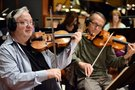 Concertmaster Jim Sitterly and the violins