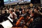 The violas and cellos