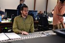 Composer Michael Giacchino listens to a cue