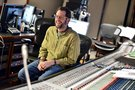 Composer Michael Giacchino has a laugh during a break