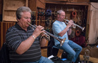 The trumpet section: Dave Washburn and Jon Lewis