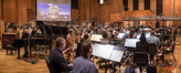 Conductor Marshall Bowen conducts the Hollywood Studio Symphony