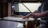 Don Williams dampens the timpani