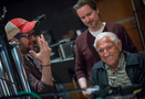 Composer Michael Giacchino and director Matt Reeves talk with legendary percussionist Emil Richards, who performed on every </i>Planet of the Apes</i> score since the original 1968 film!