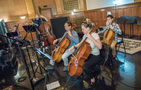 The cellos and bass