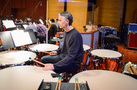 Percussionist Wade Culbreath performs on timpani