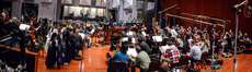 Composer/conductor Christopher Lennertz and the Hollywood Studio Symphony record a cue for <i>Baywatch</i>