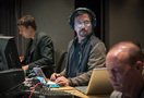 Orchestrator Henri Wilkinson, ProTools recordist Larry Mah, and music editor Ken Karman