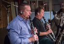 Donald Foster and Stuart Clark perform on clarinets