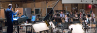 Conductor/orchestrator Ed Trybeck records with the woodwind section