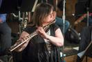 Julie Burkert  performs on alto flute