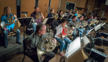 The French horn section performs on <i>The Dark Tower</i>