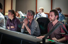 Composer Heitor Pereira, director Pierre Coffin, and scoring mixer Greg Hayes
