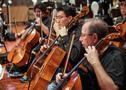 The cello section records a cue