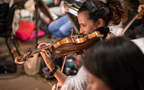 Julie Gigante plays the violin
