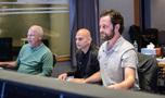 Orchestrator Brad Warnaar, supervising music editor Joe Lisanti, and scoring mixer Greg Hayes