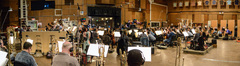 The orchestra records a cue from composer/conductor Brian Tyler's score for <i>The Fate of the Furious</i>