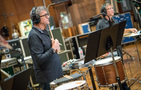 Percussionists Bob Zimmitti and Brian Kilgore