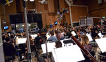 Composer/conductor Nathan Wang records with the orchestra