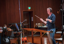 Composer/conductor Blake Neely records with the orchestra