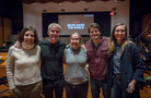 Producer Michele Fazekas, composer Blake Neely, producer Tara Butters, actor Jason Ritter, and music editor Angela Claverie