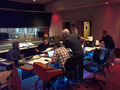 Additional Engineer Jasper Lemaster, Engineer Nick Spezia , Score Mixer Joel Yarger, Score Producer Keith Leary, Orchestrator Jim Fowler and JStudio Music Executive Keichi Kitahara at work in the booth.