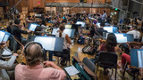 Composer Ramini Djawadi conducts the strings
