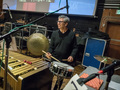 Percussionist Bob Zimmitti performs on snare drum