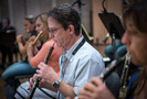 Chris Bleth performs on oboe