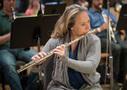 Jenni Olson performs on flute