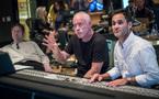Orchestrator Kevin Kaska, composer John Debney, and scoring mixer Noah Snyder