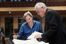 Composer Stephen Baysted (left), Conductor Andy Brown (right)