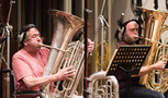 Owen Slade and Pete Smith on tuba