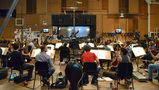 The Hollywood Studio Symphony records a cue from <i>Rings</i>