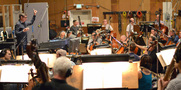 Conductor/orchestrator Tim Davies records with the Hollywood Studio Symphony
